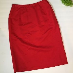 PENDLETON SILK Blend Pencil Skirt Red Size 12